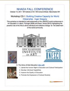 2011 New Hampshire Art Educators Association Conference flyer